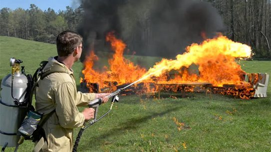 FPSRussia Tests Personal Flamethrowers
