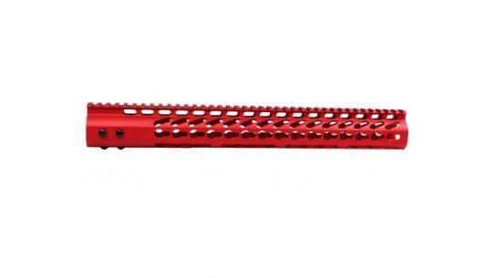 Guntec 15-Inch Free Floating Handguard Red