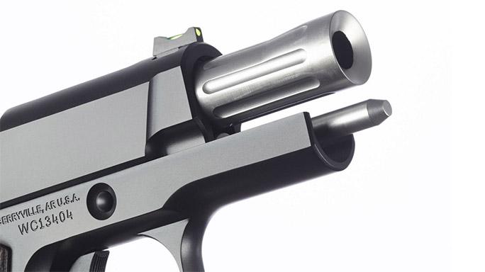 pistol barrel, racked, right, WC