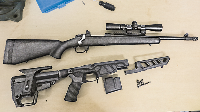 Ruger Gunsite Scout Rifle Accurate-Mag Chassis Step 1