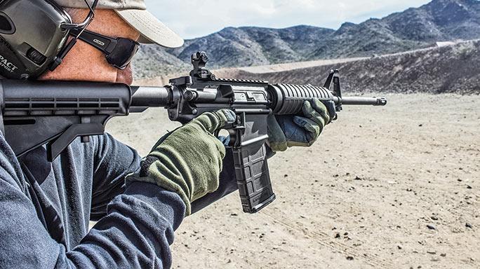 Del-Ton Echo 316M Rifle test aim