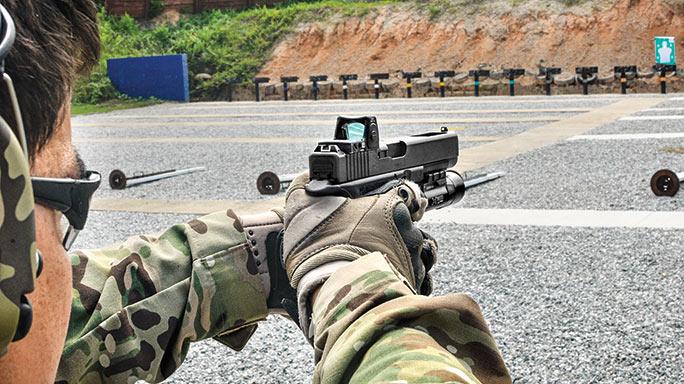 Glock G34 Gen4 MOS Pistol range