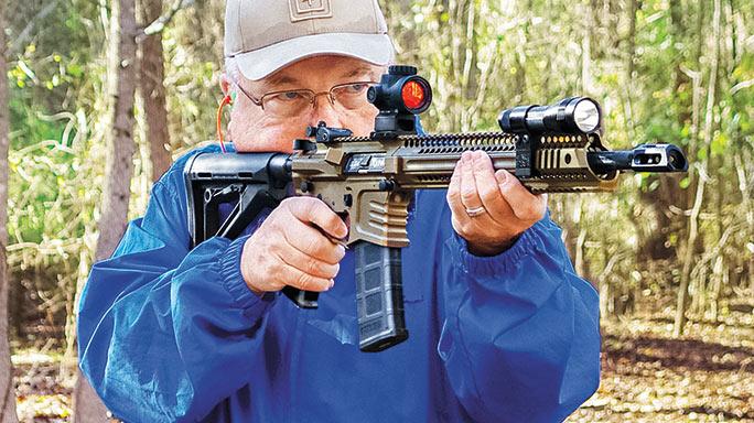 Yankee Hill Machine Model 57 Specter XL Rifle field