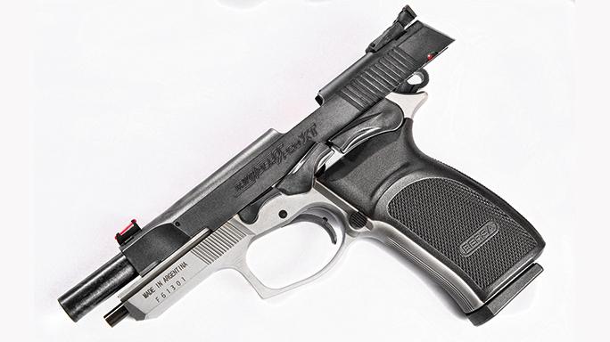 Bersa Thunder 9 Pro XT pistol pulled back