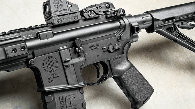Primary Weapons Systems MK109 300 Blackout Rifle controls