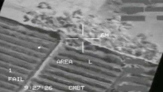 A-10 Warthog Taliban Motorcyclists gatling gun