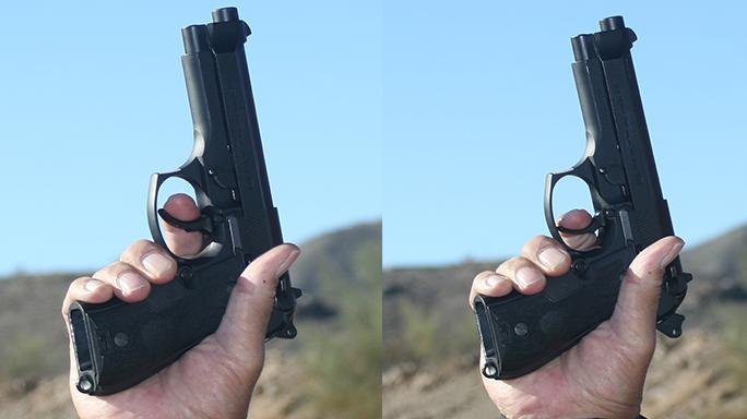 DA-SA Semi-Auto Pistol Massad Ayoob hammer