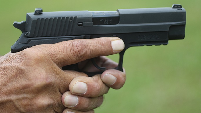 Handgun Quick-Draw tactics Press-Out Index Finger