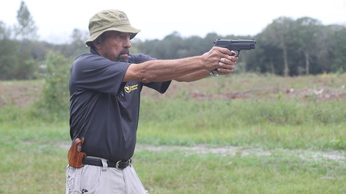 Handgun Quick-Draw Tactic Index Draw Step 4