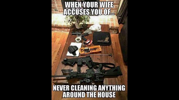 Gun Memes Cleaning