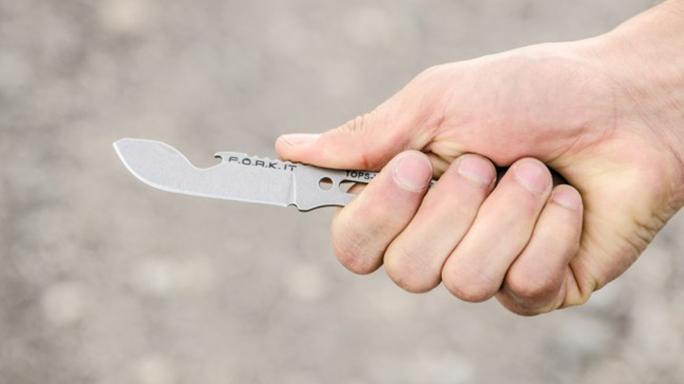 TOPS Knives F.O.R.K. It Multi-Tool has a fixed blade