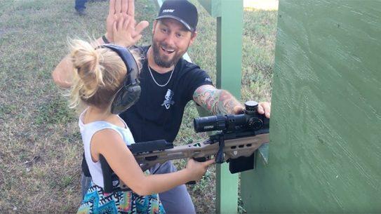 Buck Holly 4-Year-Old daughter gun range