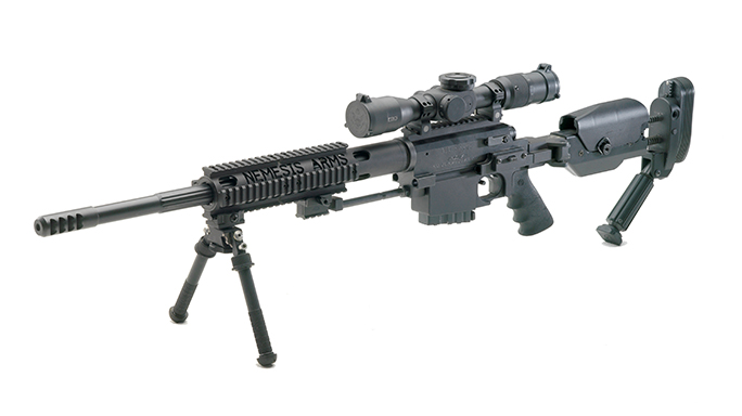 Nemesis Vanquish rifle angled left