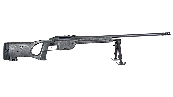 Steyr SSG Carbon Rifle facing right