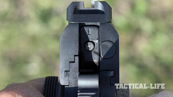 combat unit rail gun rear sight