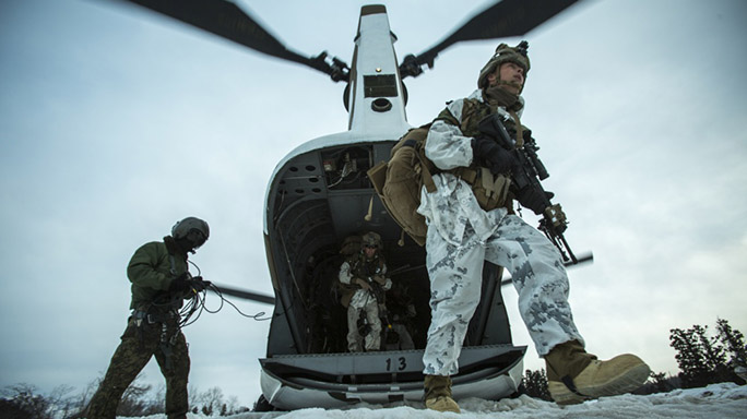 US Marines Cold Weather Training chopper