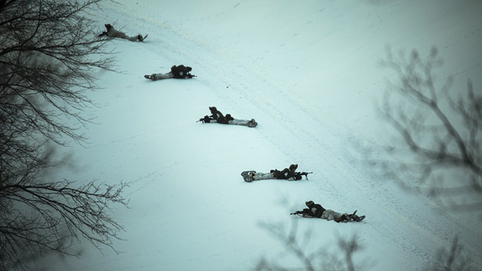 US Marines Cold Weather Training drill