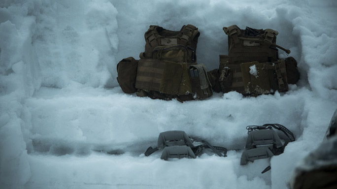 US Marines Cold Weather Training gear