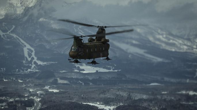 US Marines Cold Weather Training heli