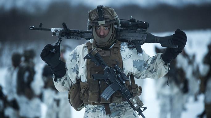 US Marines Cold Weather Training M240B