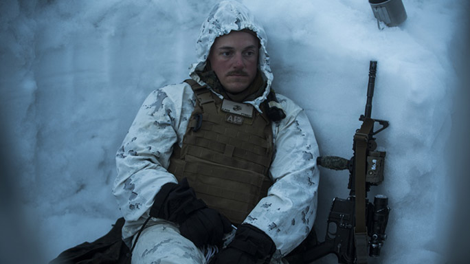 US Marines Cold Weather Training rest