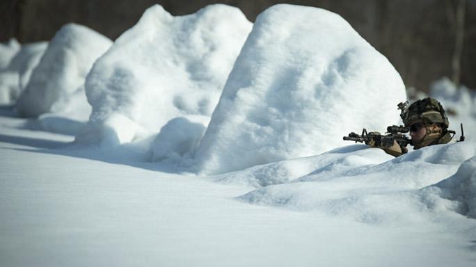 US Marines Cold Weather Training rifle