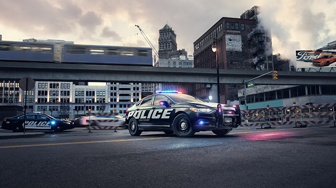 Police Responder Hybrid Sedan vehicle