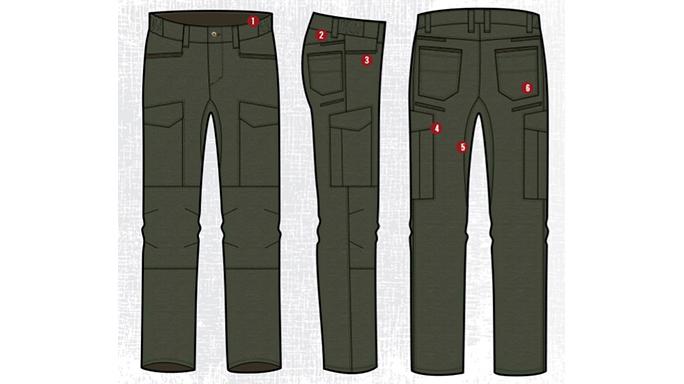 Vertx Fusion Stretch Tactical Pants features