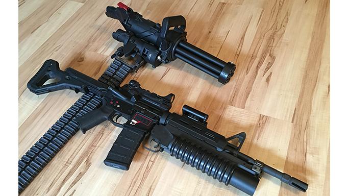 Empty Shell XM556 microgun comparison