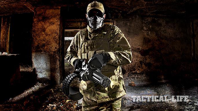 Empty Shell XM556 microgun hallway