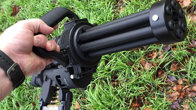 Empty Shell XM556 microgun rifle lightweight