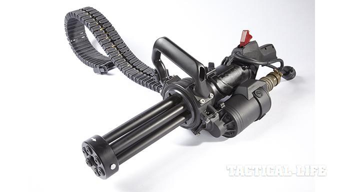 Empty Shell XM556 microgun left side