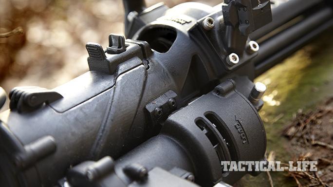 Empty Shell XM556 microgun closeup