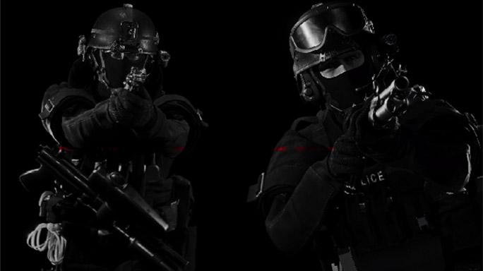 ready or not video game SWAT team members