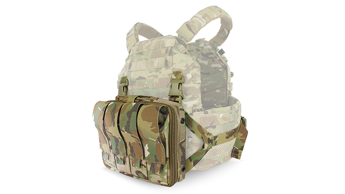 TYR Tactical's PICO-DS Medical Chest Rack attached