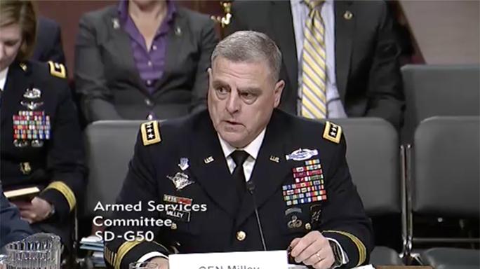 army chief of staff mark milley 5.56 body armor