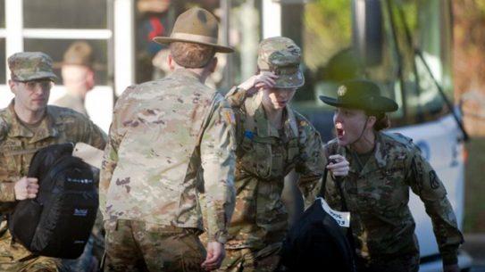 female recruits infantry one station unit training
