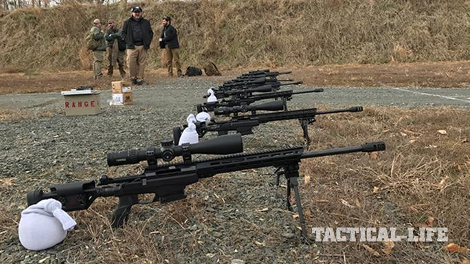 Beretta APX pistol and rifles lined up