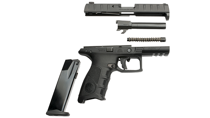 Beretta APX pistol disassembled