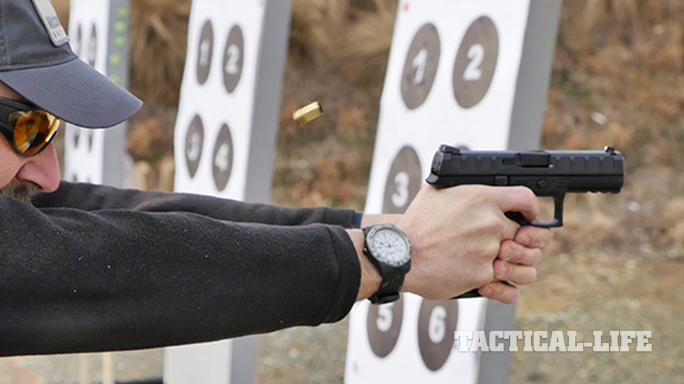 Beretta APX pistol firing
