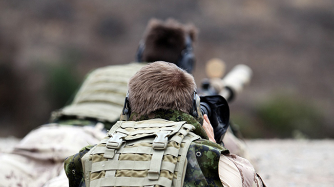 canadian sniper fire ISIS