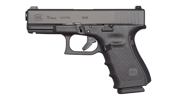 Glock Pistols left profile