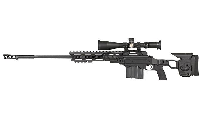 Gunwerks HAMR black rifle left angle