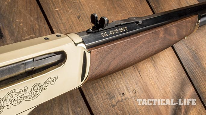 Henry 45-70 lever action rifle brass