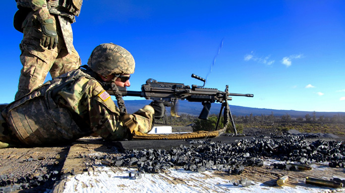 Next Generation Squad Automatic Rifle firing