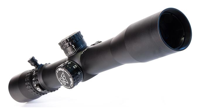 riflescope reticle closeup