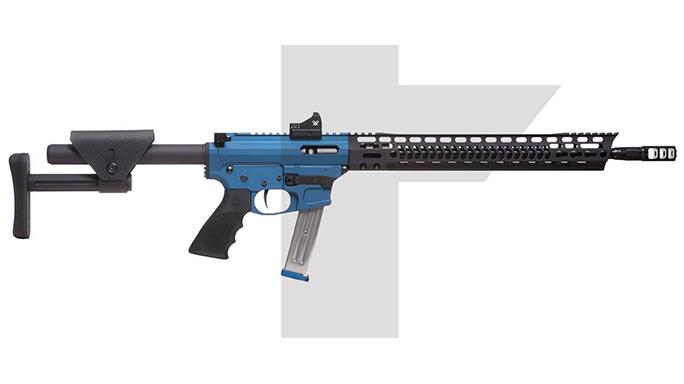 Trojan Firearms PRO9V1 carbine blue