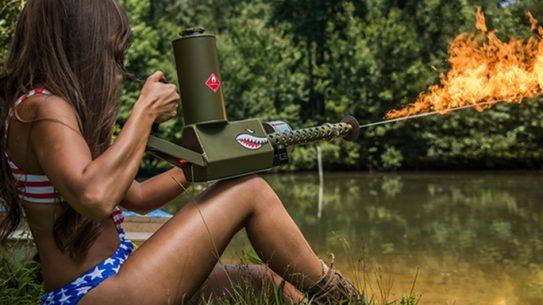 XM42 Flamethrower fire