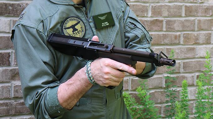 Bullpup dead Bushmaster Arm Gun aim