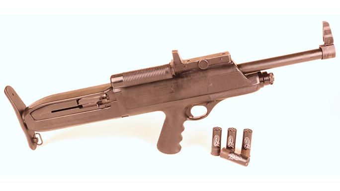 Bullpup dead High Standard Model 10 shotgun